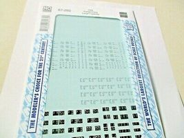 Microscale Decals Stock # 87-260 Data Freight Cars Large Capacity HO Scale image 3