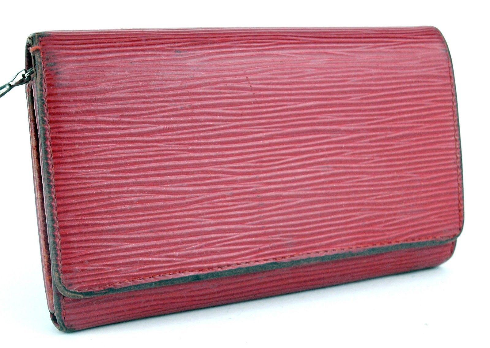 7949869d3166 S l1600. S l1600. Previous. Auth Louis Vuitton Paris Red Epi Leather Bifold  Wallet Coin Purse France SR0025