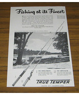1954 Vintage Ad True Temper Fishing Rods White River,St Charles,ARK - $9.25