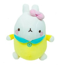 "Molang Baby Stuffed Animal Rabbit Plush Toy Soft Mochi Fluffy 9.8"" (Yellow)"
