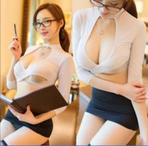 3pcs Sexy Lingerie Women Girls Secretary Uniform Cosplay Costume Office ... - $11.99