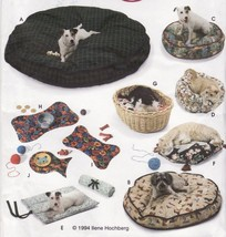 40-120 LB. Dog Cat Bed Fish Bone Place Mats Roll Up Bed Pillow Sew Pattern - $13.99
