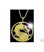 NICE Mortal Kombat MK9 X shaolin monks Gold plated over silver MK Jewelr... - $63.30
