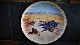 """Frederic Remington's""""The Fight For The Water Hole"""" Collector Plate - $39.99"""