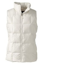 Lands End Women's Down Vest Ivory New - $29.99