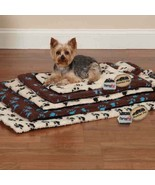 Dog Beds Ivory & Black Pawprint Crate Mats Warm Berber Therma Pet Choose... - $23.65+