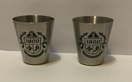 Set of 2 JB 1800 Metal Shot Glass Jim Beam - $7.91