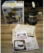 Vintage Hamilton Beach 4 Cup 784 Mini Drip Coffee/Tea Maker/New In Opene... - $32.99