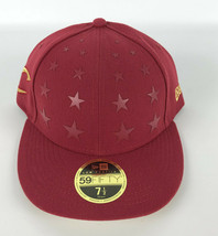 Cleveland Cavaliers Baseball Fitted Hat New Era 59Fifty Red Gold Stars -... - $29.69