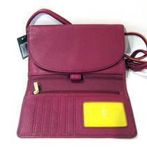 Fossil Brand Sophia Tassled Crossbody Wallet Raspberry Wine SLG1036672 NEW  image 2