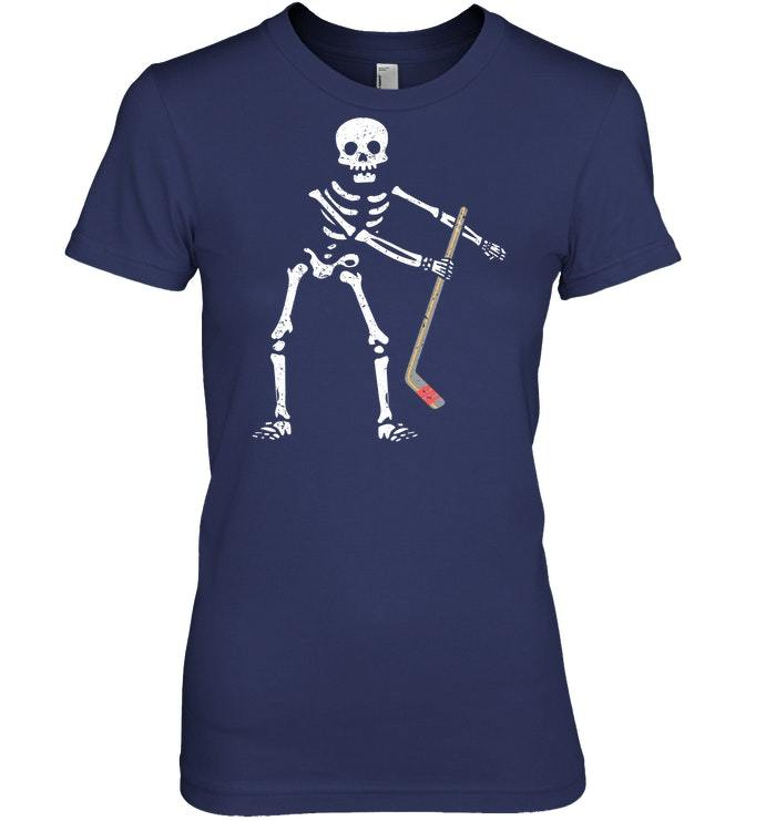 Flossing Skeleton Funny Hockey Lover Floss Tshirt