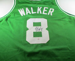 KEMBA WALKER / AUTOGRAPHED BOSTON CELTICS GREEN CUSTOM BASKETBALL JERSEY / COA image 1