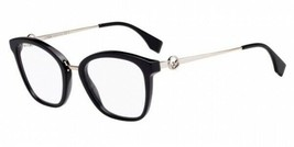 Fendi Eyeglasses FF 0307 807 50 Women's Plastic Eyeglass Frame 807 Black... - $118.79