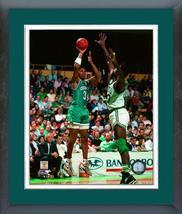 J.R. Reid 1990 Charlotte Hornets vs Celtics - 11 x 14 Matted/Framed Photo - $43.55