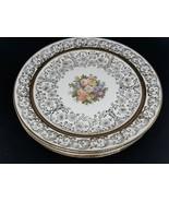 "4 Royal China Eggshell Nautilus 22K  flowers and gold work 7"" sandwich p... - $25.00"