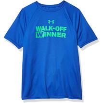 Under Armour Boys' Tech Walk Off Winner Short Sleeve T-Shirt, Blue (486)... - $15.83