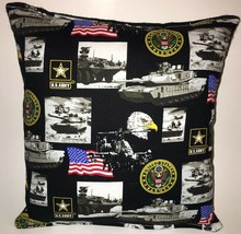 Army Pillow United States Army Pillow Patriot Pillow HANDMADE in USA Arm... - $9.97