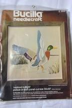 NIP Vintage Bucilla Linen Needlecraft Mallard in Flight Duck Kit Made in USA - $16.99