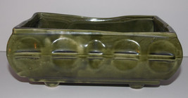 Cookson Pottery USA Green Planter 8in Long CP 558 Footed Ceramic Vintage - $19.99