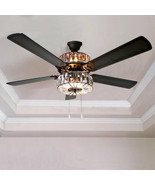 "River of Goods 52"" Caged Crystal 5 Blade Ceiling Fan with Remote - 16553S - $350.00"
