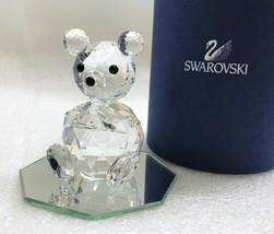 SWAROVSKI Silver Crystal, LG Sitting Bear Figure, ART7637 NR075 w/Mirror... - $87.12