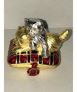 Estee Lauder Playful Kittens Solid Perfume Compact 1999 No Box - $29.99