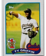 1989 Topps Baseball, #713, Ty Griffin, Chicago Cubs, Rookie, 1st Draft Pick - $0.99