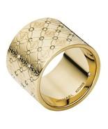 Michael Kors Ladies Gold Tone Barrel Glitz Ring MKJ4288710 - £65.73 GBP