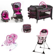 Disney Minnie Mouse Pop Baby Gear Collection Baby Bundle with Diaper Bag - $866.00