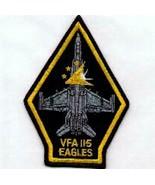 "5"" NAVY VFA-115 TRAINGLE EAGLES TORPEDO SQUADRON 11 EMBROIDERED JACKET P... - $28.49"