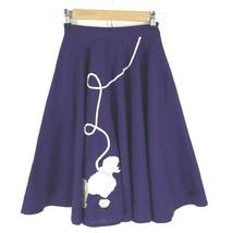Poodle Skirt Purple White Puppy Satin Full Circle 50s Costume Unique XS XXS - $14.50