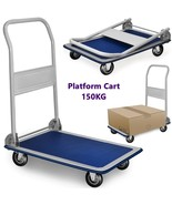 Platform Cart Folding Handle Heavy Duty Trolley Truck Carriage Transport... - $52.77
