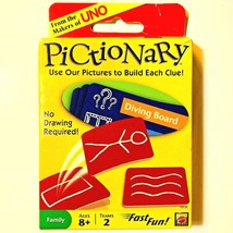 Mattel Pictionary Family Card Game From the Makers of UNO Fast Fun 027084911336 - $8.89