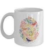 Happy Easter birds design ceramic coffee mug gifts idea - €14,10 EUR