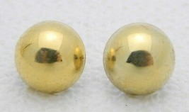 VTG WELLS Gold Vermeil .925 Sterling Silver Dome Post Earrings - $29.70
