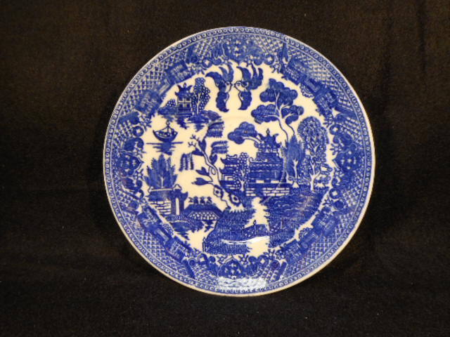 Vintage Japan Blue Willow Saucer 5 7/8""
