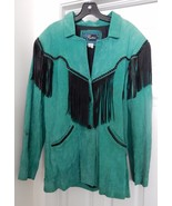 Echo Mountain Women's Jacket Coat Western Suede Leather Fringe Mexico Gr... - $79.95