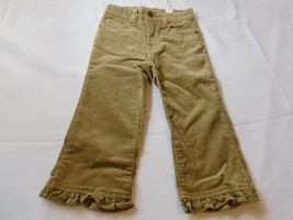 The Children's Place Baby Girls Pants Corduroy Khaki Tan 24 Months Adj Waist NWT - $13.36