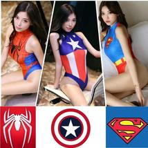 Swimsuit Adult Cosplay Costume Spiderman Captain America Super Superman - $19.41