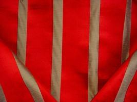 16Y BRUNSCHWIG ET FILS RED LINEN BEIGE STRIPE VELVET DRAPERY UPHOLSTERY ... - $570.24