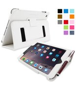 iPad Mini 3 Case Smart Cover with Kick Stand (White Leather) Apple iPad ... - $39.71