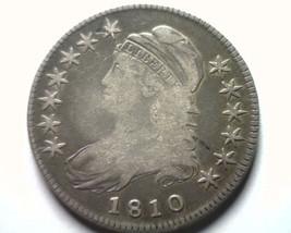 1810 BUST HALF DOLLAR O.102 FINE / VERY FINE F/VF NICE ORIGINAL COIN BOB... - $190.00