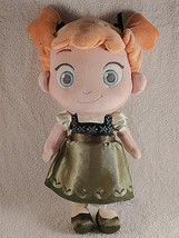 "Disney Store Frozen Baby Princess Anna 12"" Toddler Plush  Doll Toy Green Dress  - $14.80"