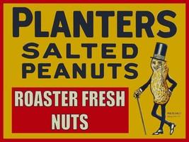 "Roaster Fresh Planters Peanuts Vintage Style Ad 24"" x 16"" Metal Sign - $49.95"