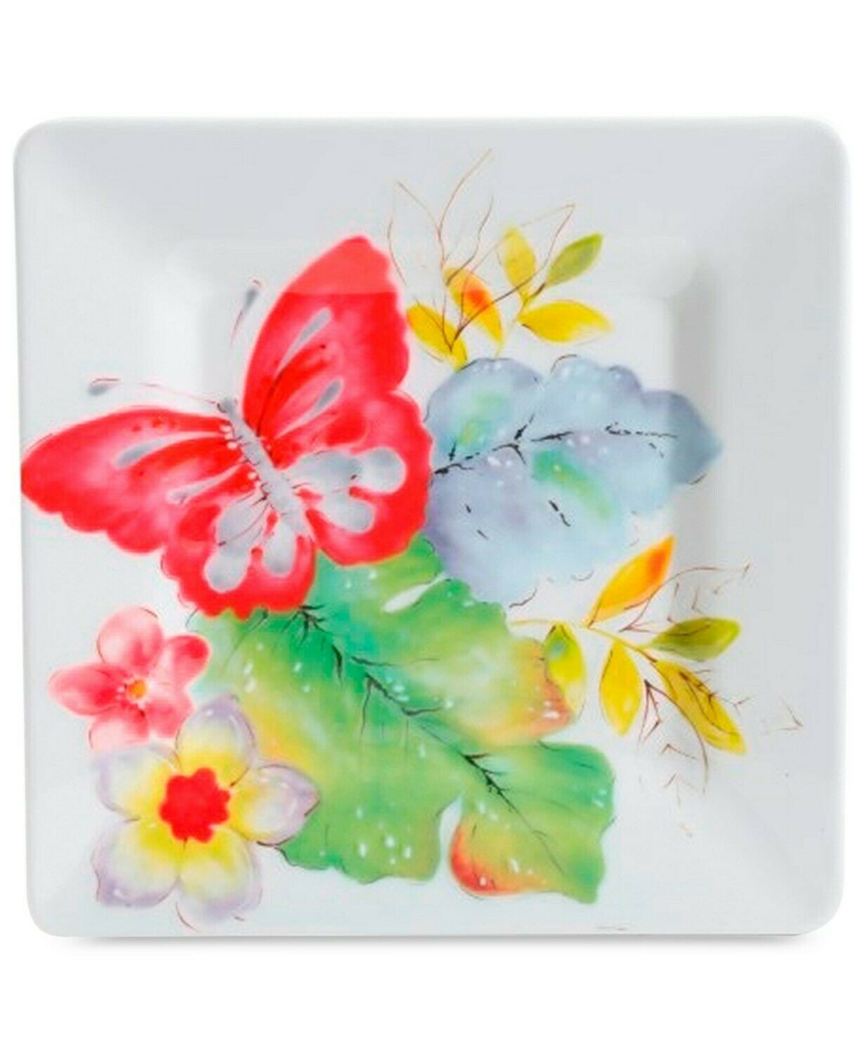 Gibson Laurie Gates Ivory Floral Square Salad Plates, Set of 4 - $27.99