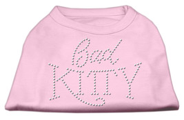 Bad Kitty Rhinestud Shirt Light Pink XL (16) - $12.98