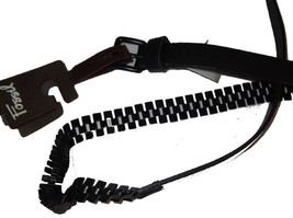 New Fossil Leather Pyramid Chain Belt Medium Black - $18.99