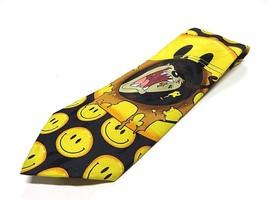1995 Looney Tunes Tasmanian Devil Smiley Faces Neck Tie 100% Polyester - $24.70