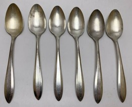 6 Community Plate 1914 PATRICIAN Pattern Place Oval Spoons Oneida Silver... - $29.70