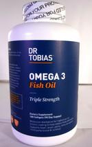 Dr. Tobias Omega 3 Fish Oil Triple Strength, 180 Softgels (VS-D) - $25.20